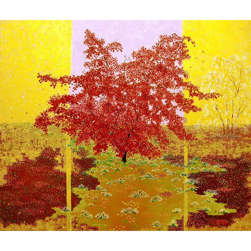 'Stages of Life (Autumn): The Purple Maple Tree'