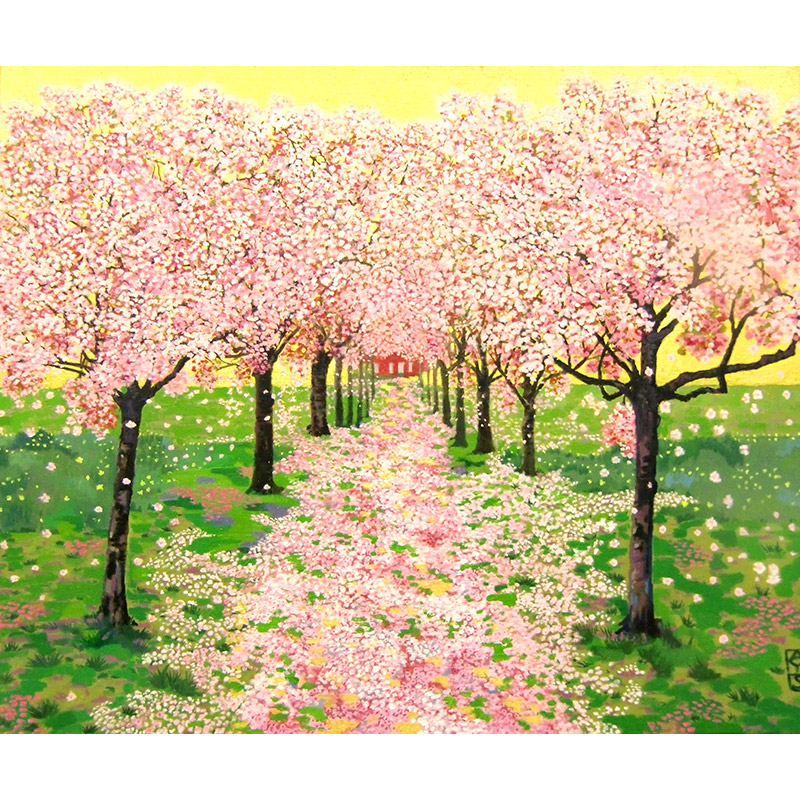 'Stages of Life (Spring): The Avenue of Cherry Trees'
